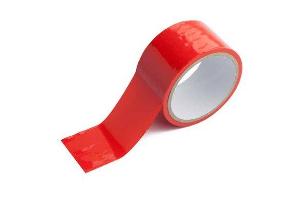 Svazovací červená páska bdsm