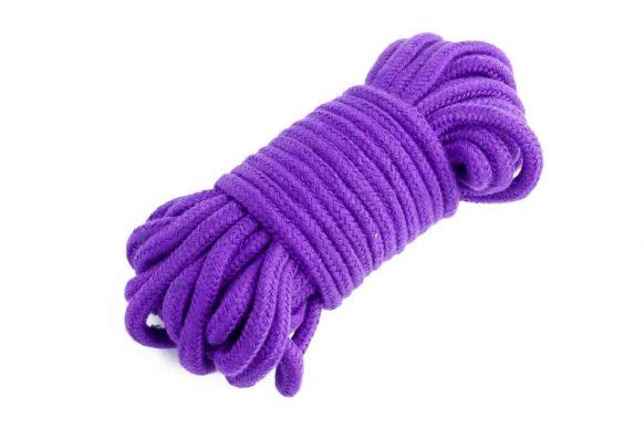 BDSM sada - fialové lano