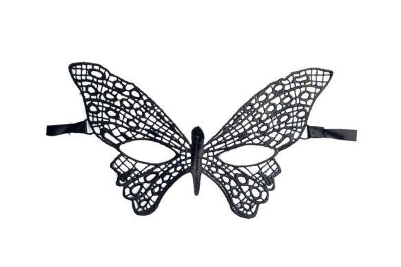 Motýlí maska krajková