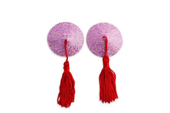 Růžové nálepky na bradavky