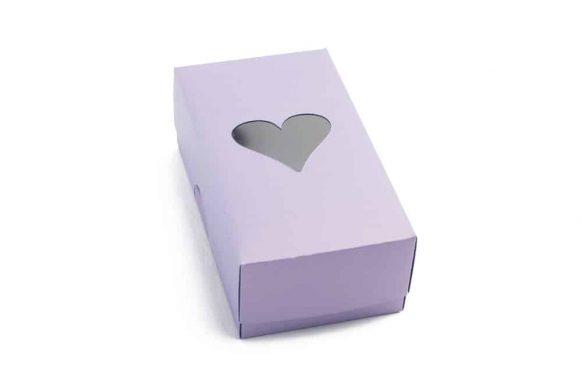 Fialová dárková krabička